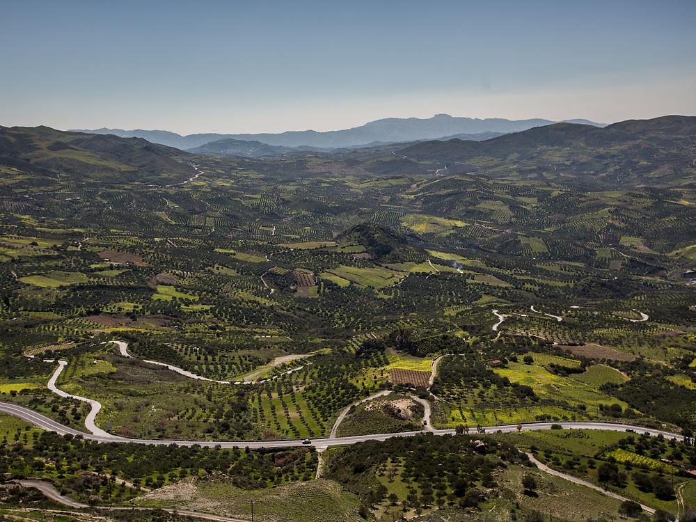 View over Central Crete, home of the Mediterranean Diet. In and around Archane village.