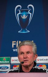 14-05-2013 VOETBAL: PERSCONFERENTIE FC BAYERN MUNCHEN: MUNCHEN<br /> Coach Jupp Heynckes during the open media day of FC Bayern Munich in front of the UEFA Champions League Final 2013 <br /> ***NETHERLANDS ONLY***<br /> ©2013-FotoHoogendoorn.nl