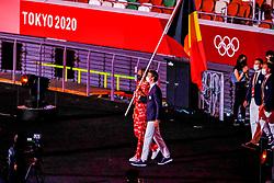 Opening Ceremony, Belgium, Nafi Thiam and Felix Denayer<br /> Olympic Games Tokyo 2021<br /> © Hippo Foto - Dirk Caremans<br /> 23/07/2021