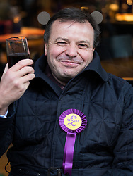 © Licensed to London News Pictures . 20/11/2014 . Kent , UK . UKIP donor ARRON BANKS on High Street , Rochester . The Rochester and Strood by-election campaign following the defection of sitting MP Mark Reckless from Conservative to UKIP . Photo credit : Joel Goodman/LNP