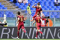 Esultanza gol Stephan El Shaarawy Roma Goal celebration 0-1 <br /> Roma 03-04-2016 Stadio Olimpico Football Calcio Serie A 2015/2016 Lazio - AS Roma Foto Andrea Staccioli / Insidefoto