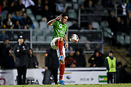 SYDNEY, AUSTRALIA - AUGUST 21: Marconi Stallions player Giorgio Speranza (3) controls the ball during the FFA Cup round of 16 soccer match between Marconi Stallions FC and Melbourne City FC on August 21, 2019 at Marconi Stadium in Sydney, Australia. (Photo by Speed Media/Icon Sportswire)