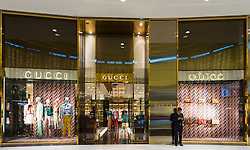 Gucci fashion  shop in Dubai Mall Dubai United Arab Emirates