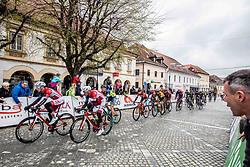Gasper Katrasnik, Radoslav Rogina of KK Adria Mobil during the cycling race 5th Grand Prix Adria Mobil, on April 7, 2019, in Novo mesto, Slovenia. Photo by Vid Ponikvar / Sportida