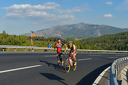 October 14, 2017 - Izmir, Turkey - Ilia Koshevoy from Wilier-Selle Italia Team in the lead during the fifth stage - the 166 km Vestel Selcuk to Izmir, the second last stage of the 53rd Presidential Cycling Tour of Turkey 2017..On Saturday, 14 October 2017, in Izmir, Turkey. (Credit Image: © Artur Widak/NurPhoto via ZUMA Press)