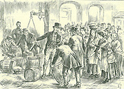 Irish Land League: In 1880 Parnell began campaign of social ostracism. Captain Boycott, agent for Lord Erne's Mayo estates, was one of the first victims.   Boycotted butter in Cork market, May 1885.