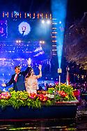 5-5-2017 AMSTERDAM - King Willem-Alexander, Queen Maxima and Prime Minister Rutte will attend the 5th May concert in Amsterdam on the occasion of the closing of the National Celebration Liberation. The concert takes place traditionally on and around the Amstel for Royal Theater Carré. COPYRIGHT ROBIN UTRECHT<br /> <br /> 5-5-2017 AMSTERDAM - burgemeester Eberhard van der laan Koning Willem-Alexander,  Koningin Maxima en minister-president Rutte  wonen 's avonds in Amsterdam het 5 mei-concert bij ter gelegenheid van de afsluiting van de Nationale Viering Bevrijding. Het concert vindt traditiegetrouw plaats op en rond de Amstel voor Koninklijk Theater Carré. COPYRIGHT ROBIN UTRECHT