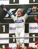 Ralf SCHUMACHER  Sieger Gro§er Preis von Deutschland 2001<br />         Motorsport Formel 1  Willimas BMW