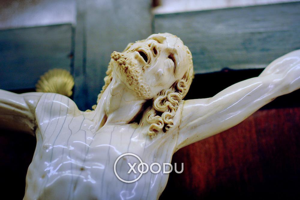 Jesus on the cross (statue), Cordoba, Spain (January 2007)
