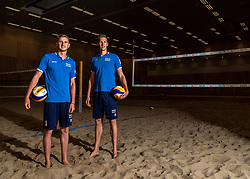 06-07-2018 NED: EC Beach teams Netherlands, The Hague<br /> (L-R) Jasper Bouter NED, Christiaan Varenhorst NED