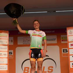 30-08-2016: Wielrennen: Ladies Tour: Tiel      <br /> TIEL (NED) wielrennen    <br /> De Boels Ladies Tour begon met een etappe door de Betuwe<br /> DIDERIKSEN Amalie (Boels Dolmans Cyclingteam) leidster punten klassement