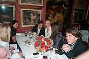 ALEX COCHRANE; ALANAH WESTON, Dinner hosted by Elizabeth Saltzman for Mario Testino and Kate Moss. Mark's Club. London. 5 June 2010. -DO NOT ARCHIVE-© Copyright Photograph by Dafydd Jones. 248 Clapham Rd. London SW9 0PZ. Tel 0207 820 0771. www.dafjones.com.