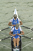 Seville, Andalusia, SPAIN<br /> <br /> 2002 World Rowing Championships - Seville - Spain Sunday 15/09/2002.<br /> <br /> Rio Guadalquiver Rowing course<br /> <br /> ITA LW2X<br /> Enrica Marasca and Sara Bahan<br /> <br /> [Mandatory Credit:Peter SPURRIER/Intersport Images]
