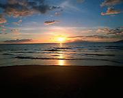 Sunset, Wailea Beach, Maui, Hawaii, USA<br />