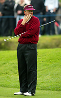 Photograph: Scott Heavey<br />Volvo PGA Championship At Wentworth Club. 23/05/2003.<br />Colin Montgomerie on the 2nd.