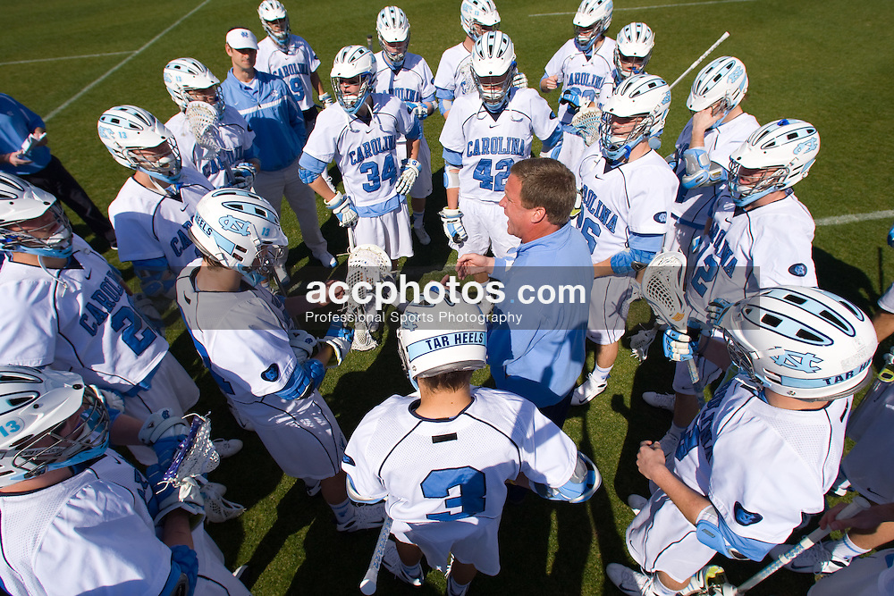 02 March 2008: North Carolina Tar Heels head coach John Haus during a 13-8 win over the Cornell Big Red on Fetzer Field in Chapel Hill, NC.