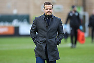 Forest Green Rovers manager, Mark Cooper during the The FA Cup match between Forest Green Rovers and Exeter City at the New Lawn, Forest Green, United Kingdom on 2 December 2017. Photo by Shane Healey.