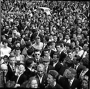 25/06/1961<br /> 06/25/1961<br /> 25 June 1961<br /> Rás Tailteann at Parnell Square, Dublin. Race winner Tom Finn surrounded by the crowd after his victory.<br /> The Rás Tailteann is an annual 8-day international cycling stage race held in Ireland.
