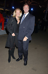 LORD BROCKETT and his fiance HARRIET WARREN at the opening of the Natural History Museum's Ice Rink on 16th November 2005.<br />