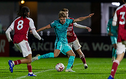 LONDON, ENGLAND - Friday, October 30, 2020: Liverpool's substitute Paul Glatzel during the Premier League 2 Division 1 match between Arsenal FC Under-23's and Liverpool FC Under-23's at Meadow Park. Liverpool won 1-0. (Pic by David Rawcliffe/Propaganda)