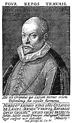 Orlando Lassus Orlando di Lasso c.1532-1594) Composer and musician from Netherlands. Active in Italy, England and France and produced both sacred and secular works. Ennobled by Maximillian II in 1570. Engraving.