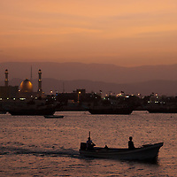 A boat going to sea on the Gulf of Oman.