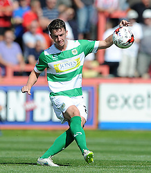 Yeovil Town's Alex Lacey - Photo mandatory by-line: Harry Trump/JMP - Mobile: 07966 386802 - 08/08/15 - SPORT - FOOTBALL - Sky Bet League Two - Exeter City v Yeovil Town - St James Park, Exeter, England.