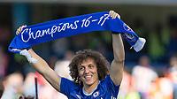 Football - 2016 / 2017 Premier League - Chelsea vs. Sunderland <br /> <br /> David Luiz of Chelsea holds aloft a chapions scarf at Stamford Bridge.<br /> <br /> COLORSPORT/DANIEL BEARHAM