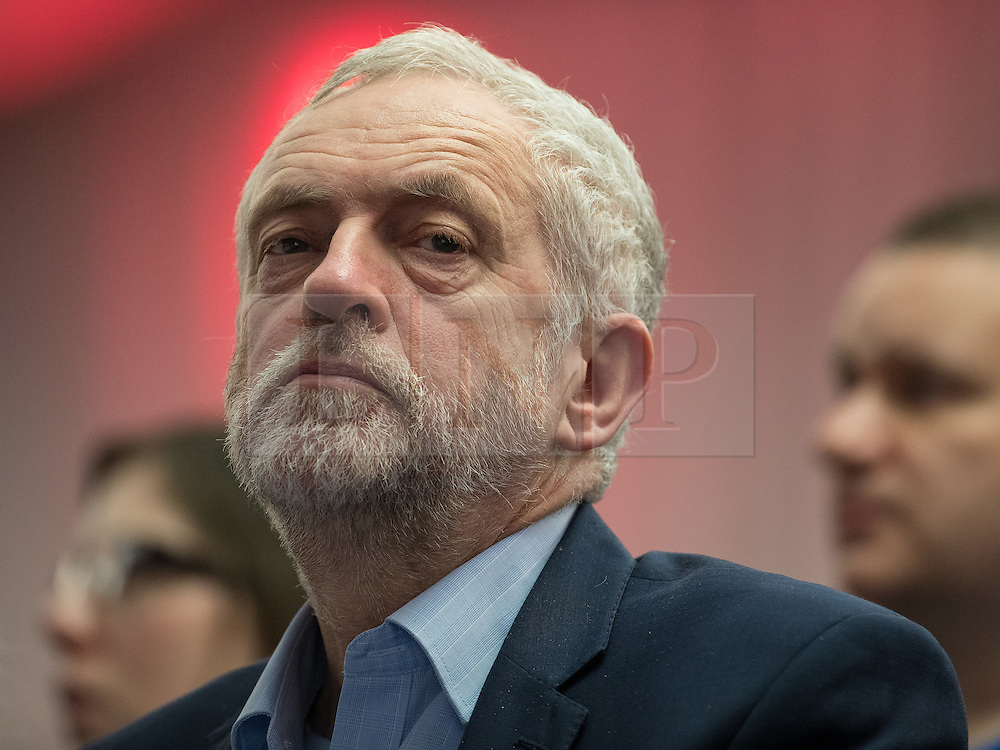 © Licensed to London News Pictures . 04/02/2017 . Liverpool, UK . JEREMY CORBYN in the audience . Labour Party leader Jeremy Corbyn and Shadow Chancellor John McDonnell launch the party's first regional economic conference at the Devonshire House Hotel . Photo credit : Joel Goodman/LNP