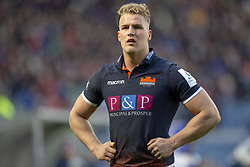 March 30, 2019 - Edinburgh, Scotland, United Kingdom - Duhan van der Merwe of Edinburgh looks on during the Heineken Champions Cup Quarter Final match between Edinburgh Rugby and Munster Rugby at Murrayfield Stadium in Edinburgh, Scotland, United Kingdom on March 30, 2019  (Credit Image: © Andrew Surma/NurPhoto via ZUMA Press)