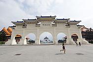 The entrance gate to Chiang Kai Shek Memorial Hall in Taipei, Taiwan.