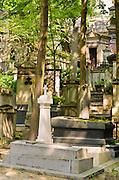 Mausoleums at Père Lachaise Cemetery, Paris, France