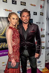 LOS ANGELES, CA - SEPTEMBER 2 Colombian television actor Harry Geithner and American actress Caitlin Patricia Weiler attend the purple carpet of Latina International Beauty Convention at The LA Hotel l in downtown Los Angeles on Friday night 2016 September. Byline, credit, TV usage, web usage or linkback must read SILVEXPHOTO.COM. Failure to byline correctly will incur double the agreed fee. Tel: +1 714 504 6870.