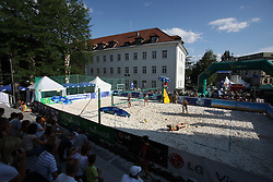 Court in Kranj at qualifications for 14th National Championship of Slovenia in Beach Volleyball and also 4th tournament of series TUSMOBIL LG presented by Nestea, on July 25, 2008, in Kranj, Slovenija. (Photo by Vid Ponikvar / Sportal Images)/ Sportida)