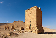 Tower of Elahbel, burial tower, Palmyra, Syria. Ancient city in the desert that fell into disuse after the 16th century.