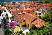 Red tile roofs from the Great Wall, Ston, Dalmatian Coast, Croatia