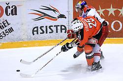 Walter Lee Sweatt (3) and Conny Stromber (25) at ice hockey match Acroni Jesencie vs EC Red Bull Salzburg in EBEL League,  on November 23, 2008 in Arena Podmezaklja, Jesenice, Slovenia. (Photo by Vid Ponikvar / Sportida)