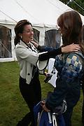 DANNI MINOGUE AND NETTIE MASON, Cartier Style et Luxe lunch. Goodwood.  24 June 2007.  -DO NOT ARCHIVE-© Copyright Photograph by Dafydd Jones. 248 Clapham Rd. London SW9 0PZ. Tel 0207 820 0771. www.dafjones.com.