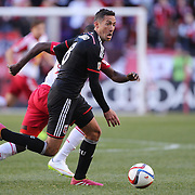 Davy Arnaud, D.C. United in action during the New York Red Bulls Vs D.C. United Major League Soccer regular season match at Red Bull Arena, Harrison, New Jersey. USA. 22nd March 2015. Photo Tim Clayton