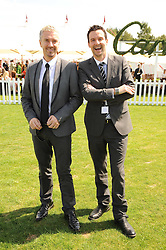 Interiror designers JUSTIN RYAN and COLIN McALLISTER at the Cartier International Polo at Guards Polo Club, Windsor Great Park, Berkshire on 25th July 2010.