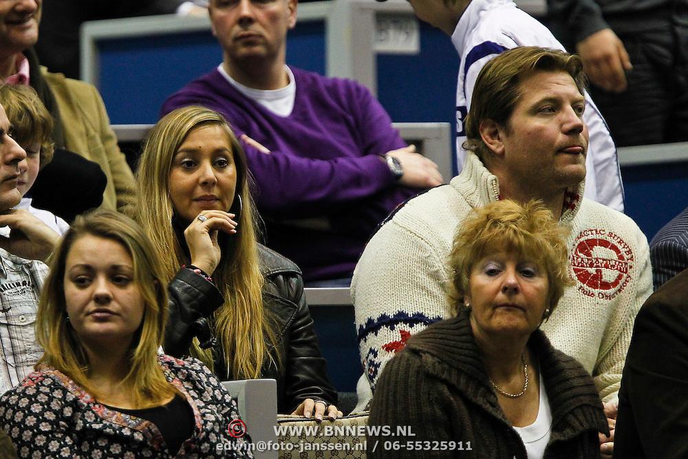 NLD/Rotterdam/20100214 - ABN - AMRO tennistoernooi 2010, judoka Dennis van der Geest en partner Zaina Mohamed