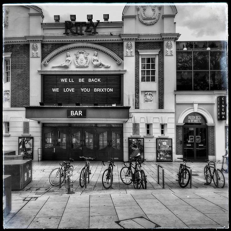 The Ritzy Cinema closes. Brixton Lockdown Windrush Square