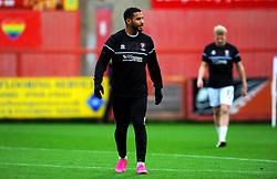 Reuben Reid of Cheltenham Town warms up prior to kick-off- Mandatory by-line: Nizaam Jones/JMP - 21/11/2020 - FOOTBALL - Jonny-Rocks Stadium - Cheltenham, England - Cheltenham Town v Walsall - Sky Bet League Two