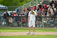 KELOWNA, CANADA - JUNE 28: NHL Montreal Canadiens goalie Carey Price catches the ball at first base during the opening charity game of the Home Base Slo-Pitch Tournament fundraiser for the Kelowna General Hospital Foundation JoeAnna's House on June 28, 2019 at Elk's Stadium in Kelowna, British Columbia, Canada.  (Photo by Marissa Baecker/Shoot the Breeze)