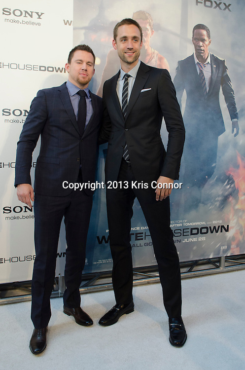WASHINGTON DC JUNE 21: Channing Tatum and Reid Carolin pose on the red carpet during the DC premiere of White House Down at AMC Georgetown in Washington DC on June 21, 2013.<br /> Photo by Kris Connor/Sony Pictures