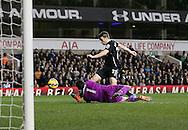 Tottenham's Hugo Lloris saves from Everton's Seamus Coleman<br /> <br /> Barclays Premier League- Tottenham Hotspur vs Everton - White Hart Lane - England - 30th November 2014 - Picture David Klein/Sportimage