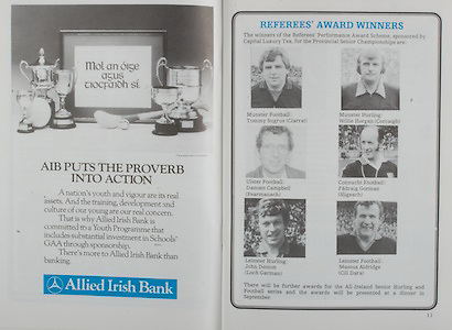 All Ireland Senior Hurling Championship Final,.07.09.1986, 09.07.1986, 7th September, 1986,.07091986AISHCF,.Cork 4-13, Galway 2-15,.Minor Cork v Offaly,.Senior Cork v Galway,.Allied Irish Bank,.Tommy Sugrue, Ciarrai, Munster Hurling, Willie Horgan, Cork, .Damien Campbell, Fearmanach, Padraig Gorman, Sligeach, John Denton, Loch Garman, Seamus Aldridge, Cill Dara,