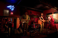 """The band """"Jane Bond"""" performs at the Continental Club, Austin, TX."""