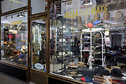 A gentleman's hat business on Vodickova Street, on 17th March, 2018, in Prague, the Czech Republic.