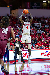 NORMAL, IL - November 10: Abdou Ndiaye during a college basketball game between the ISU Redbirds and the Little Rock Trojans on November 10 2019 at Redbird Arena in Normal, IL. (Photo by Alan Look)